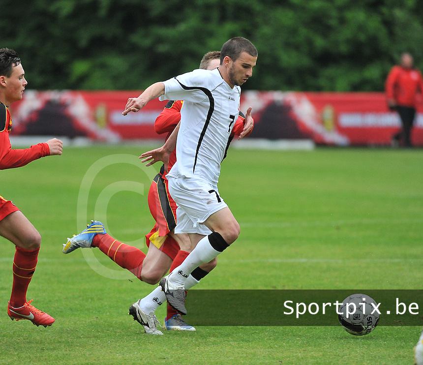 Georgia U19 - Belgium U19 : Guram Samushia (7) <br /> foto DAVID CATRY / Nikonpro.be