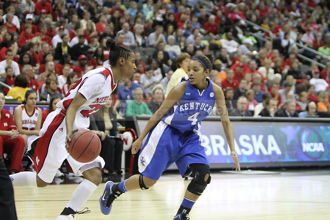 The UK Hoops played Nebraska in the NCAA Women's Basketball Sweet 16 Tournament on Sunday, March 28, 2010 at the Sprint Center in Kansas City, Mo. Photo by Brandon Goodwin   Staff