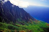 View of Kalalau valley from Kokee State Park overlook, Kauai