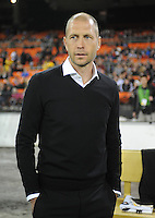 Washington D.C. - March 8, 2014:  Columbus Crew Head Coach Gregg Berhalter.  The Columbus Crew defeated D.C. United 3-0 during the opening game of the 2014 season at RFK Stadium.