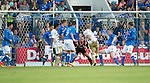 St Johnstone v FC Luzern...24.07.14  Europa League 2nd Round Qualifier<br /> Marco Schneuwly scores the equaliser<br /> Picture by Graeme Hart.<br /> Copyright Perthshire Picture Agency<br /> Tel: 01738 623350  Mobile: 07990 594431