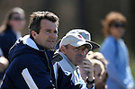 North Carolina head coach Anson Dorrance (l) with assistant coach Bill Palladino (r) on Saturday, March 3rd, 2007 on Field 1 at SAS Soccer Park in Cary, North Carolina. The Duke University Blue Devils played the University of North Carolina Tarheels in an NCAA Division I Women's Soccer spring game.