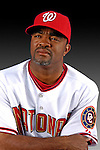 25 February 2007: Washington Nationals infielder Tony Womack poses for his Photo Day portrait at Space Coast Stadium in Viera, Florida.<br /> <br /> Mandatory Photo Credit: Ed Wolfstein Photo<br /> <br /> Note: This image is available in a RAW (NEF) File Format - contact Photographer.