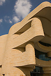 Washington, DC: National Museum of the American Indian.  External view of undulating architecture.  Photo # wash99302-70617..Photo copyright Lee Foster, www.fostertravel.com, lee@fostertravel.com, 510/549-2202