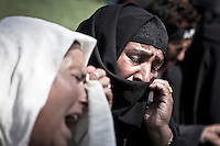 Relatives of missing Kashmiris wail during a demonstration in Srinagar. Wives, mothers, and sisters of the disappeared have organized under the Association of Parents of Disappeared Persons (APDP) towards bringing peace and justice.They organize protests to remind and claim for the disappeared in Kashmir, the disputed territory which had suffered the enforced disapperences of more than 8,000 ( by conservative estimates) under custody by Indian security forces in accord with the APDP office since the rebellion against Indian rule broke out in 1989. Srinagar, Indian administrated Kashmir.