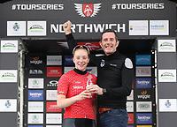 Picture by Alex Whitehead/SWpix.com 12/05/2017 -  Tour Series Round 3 Northwich - Women's Race - Matrix Fitness Grand Prix Series - Podium Emily Nelson Phil Jones Brother
