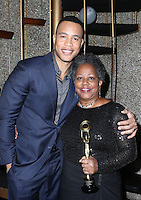 Hollywood, CA - February 19: Trai Byers, Beverly Jo Pryor, At 3rd Annual Hollywood Beauty Awards_Inside, At Avalon Hollywood In California on February 19, 2017. Credit: Faye Sadou/MediaPunch