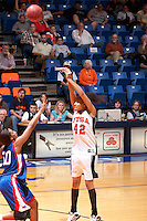 SAN ANTONIO, TX - FEBRUARY 24, 2006: The University of Texas at Arlington Mavericks vs. The University of Texas at San Antonio Roadrunners Women's Basketball at the UTSA Convocation Center. (Photo by Jeff Huehn)