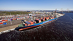 Hyundai Forward TraPac Container Terminal at Dames Point Port of Jacksonville helicopter aerial