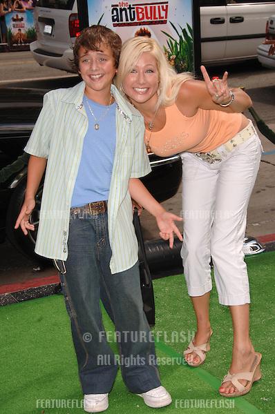 "Actress NICOLE MALGARINI & cousin actor RYAN MALGARINI  at the Los Angeles premiere of ""The Ant Bully."".July 23, 2006  Los Angeles, CA.© 2006 Paul Smith / Featureflash"