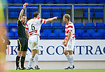 St Johnstone v Hamilton Accies...10.05.11.Steve Conroy sends off Mark McLaughlin.Picture by Graeme Hart..Copyright Perthshire Picture Agency.Tel: 01738 623350  Mobile: 07990 594431