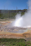 WY: Wyoming; Yellowstone National Park:.In Midway Geyser Basin, Imperial Geyser..Photo #: yellow1396..Photo copyright Lee Foster, 510/549-2202, lee@fostertravel.com, www.fostertravel.com..