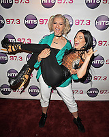 FORT LAUDERDALE , FL - AUGUST 09: Bebe Rexha and DJ Kat Lane during Hits 97.3 Sessions at Revolution on August 9, 2016 in Fort Lauderdale, Florida. CrediMPI04 / MediaPunch
