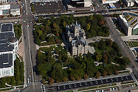 aerial photograph Salt Lake City and County Building, Salt Lake City, Utah
