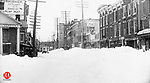 After the blizzard of March 12th through 14th of 1888. Looking down Bank Street from Exchange Place; Apothecaries Hall is on the left.