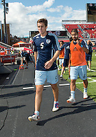 August 18, 2012: Sporting KC defender Matt Besler #5 in action during the warm-up in an MLS game between Toronto FC and Sporting Kansas City at BMO Field in Toronto, Ontario Canada..Sporting Kansas City won 1-0.
