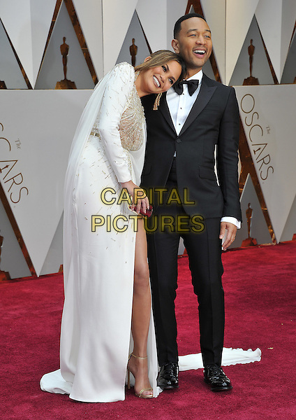HOLLYWOOD - FEBRUARY 26: Chrissy Teigen and John Legend attend the 89th Annual Academy Awards at the Dolby Theatre on February 26, 2017 in Hollywood, California. <br /> CAP/MPI99<br /> &copy;MPI99/Capital Pictures