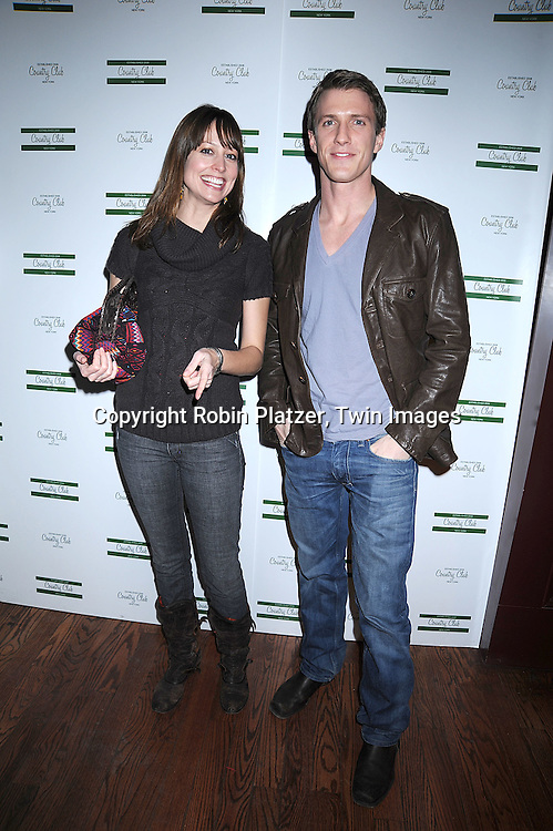 """actors Alexie Gilmore and Patrick Heusinger.. arriving at The New York Novie Premiere party for """"Were The World Mine"""" on November 21, 2008 at Country Club.....Robin Platzer, Twin Images"""