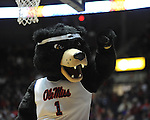 "Rebel the Bear mascot at Mississippi vs. Rutgers at the C.M. ""Tad"" Smith Coliseum in Oxford, Miss. on Saturday, December 1, 2012. (AP Photo/Oxford Eagle, Bruce Newman).."
