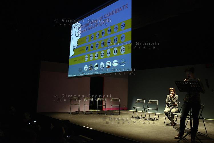 Roma, 11 Febbraio 2013.Teatro Piccolo Eliseo..Appuntamento di Se non ora quando sulle richieste delle donne ai candidati alle elezioni. .
