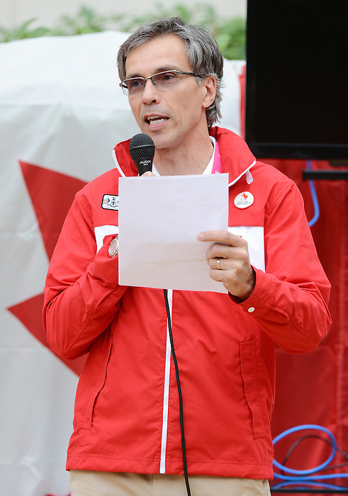 LONDON, ENGLAND – 08/26/2012:  Gaetan Tardif at Canada's Pep-Rally before the London 2012 Paralympic Games. (Photo by Matthew Murnaghan/Canadian Paralympic Committee)