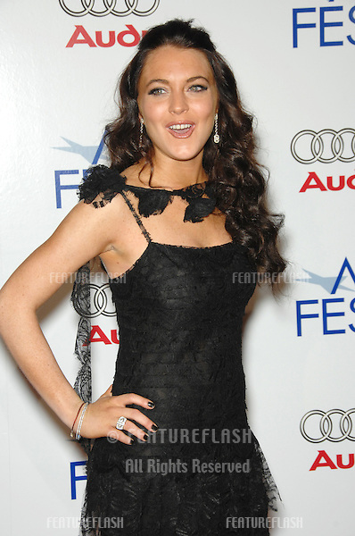 """LINDSAY LOHAN at the AFI opening night gala & US premiere of her new movie """"Bobby"""" at the Grauman's Chinese Theatre, Hollywood..November 1, 2006  Los Angeles, CA.Picture: Paul Smith / Featureflash"""