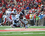 Ole Miss running back Jeff Scott (3) vs. Auburn defensive back Jermaine Whitehead (9) at Vaught-Hemingway Stadium in Oxford, Miss. on Saturday, October 13, 2012.