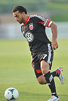 Dwayne De Rosario (7) of D.C. United during the game. D.C. United defeated the The New England Revolution 3-1 in the Quarterfinals of Lamar Hunt U.S. Open Cup, at the Maryland SoccerPlex, Tuesday June 26 , 2013.