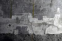 Milano, Castello Sforzesco, La Sala delle Asse riapre per EXPO 2015 e presenta &ldquo;il Leonardo ritrovato&rdquo;. Lavori di restauro per il recupero del monocromo e nuove tracce di disegni attribuibili a Leonardo. Paesaggio emerso dal discialbo.<br /> Milan, Castello Sforzesco, La Sala delle Asse reopens for EXPO 2015 and presents &quot;the rediscovered Leonardo &quot;. Restoration works for the recovery of the monochrome and new traces of drawings attributed to Leonardo.