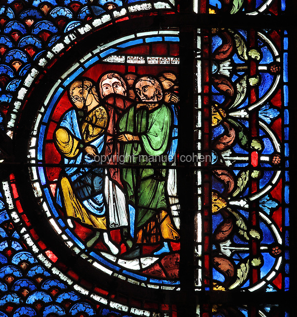 Jews, Life of Mary Magdalene stained glass window ...