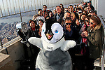 Erik the Penguin from Happy Feet 2 visits The Empire State Building New York, Ny November 14, 2011