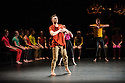"National Youth Dance Company in dress rehearsal for the premiere of ""In-Nocentes"" at Sadler's Wells. Choreographed by Michael Keegan-Dolan, Artistic Director for NYDC for 2015 - 2016, with lighting design by Peter Harrison, set and costume design by Laura Hopkins. NYDC is touring the work from 26 June – 23 July 2016. The dancers are: Monique Ademilola, Jasmine Bayes, Tomas Brennan, Jamie Buchanan, Arthur Clayton, Isis Clunie, Olivia Doyle, Lucia Fortune-Ely, Christian Griffin, Bar Groisman, Rachael Harrison, Alex Henderson, Amie Hibbert, Christopher Hicks, Tommy Hodgkins, Noga Inspector, Taitlyn Jaiyeola, Kaylee Jaiyeola, Ethan Joseph, Niamh Keeling, Rose Lewis, Blue Makwana, Dominic McAinsh, Iona McGuire, Kennedy Muntanga, Daniel Nattrass, Jessica Nixon, Jasmine Norton, Ethan Nott, Chris Pilbeam, David Prempeh, Jackson Shallcross-Platt, Kia Skilbeck, Ben Todd-Jones, Tre Usoro-Williams, Chad Wakefield, Molly Walker, John-William Watson, George Williams, Hallam Wood. Picture shows: Chris Pilbeam."