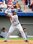 9 March 2010: Detroit Tigers' catcher Robinzon Diaz in action during a Spring Training game against the Washington Nationals at Space Coast Stadium in Viera, Florida. The Tigers defeated the Nationals 9-4 in Grapefruit League action. Mandatory Credit: Ed Wolfstein Photo