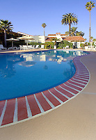 Pool at a Santa Barbara Hotel in California.