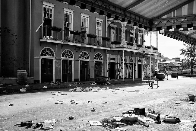The Veranda Variety Store and Rue Royal Emporium on Main Street Square at Six Flags in East New Orleans - five years later after Hurricane Katrina.
