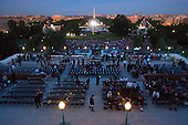 His Holiness Pope Francis will address this crowd below following his address to Congress  at the US Capitol with members of congress, Thursday, Sept. 24, 2015.<br /> Credit: Doug Mills / Pool via CNP