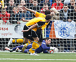 Neil Alexander makes a crucial save for Rangers to deny Annan