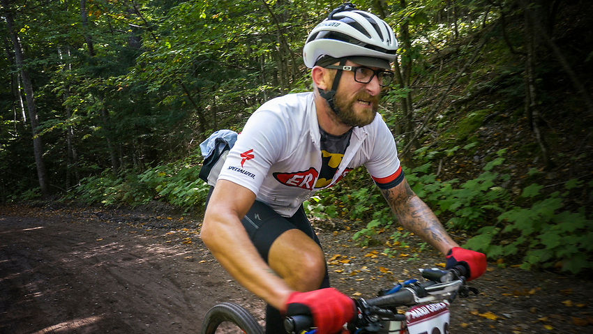 Mountain bikers in the Marji Gesick 100 event in Marquette County, Michigan.