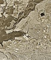 historical aerial photograph Corona, Riverside County, California, 1994