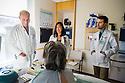 Frank Ittleman, M.D., left, patient, release 20130919002, Fuyiki Hirashima, M.D, Kristopher Azeveda, class of 2015.
