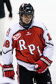 Alex Angers-Goulet (RPI - 18) returns to the bench and was able to return to play. - The visiting Rensselaer Polytechnic Institute Engineers tied their host, the Northeastern University Huskies, 2-2 (OT) on Friday, October 15, 2010, at Matthews Arena in Boston, MA.
