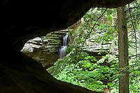 Memorial Falls at the Twin Falls nature preserve in Munising Michigan in the Upper Peninsula.