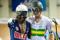 Picture by Alex Whitehead/SWpix.com - 03/03/2017 - Cycling - UCI Para-cycling Track World Championships - Velo Sports Center, Los Angeles, USA - Men's C3 3km Individual Pursuit. Gold - Australia's David Nicholas, Silver - USA's Joseph Berenyi.