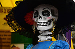 Mexicans celebrate the day of the dead in honor to Spanish-Mexican surrealist painter Remedios Varo