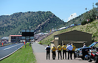Jul. 24, 2011; Morrison, CO, USA: NHRA Safety Safari waiting for the start of  the Mile High Nationals at Bandimere Speedway. Mandatory Credit: Mark J. Rebilas-
