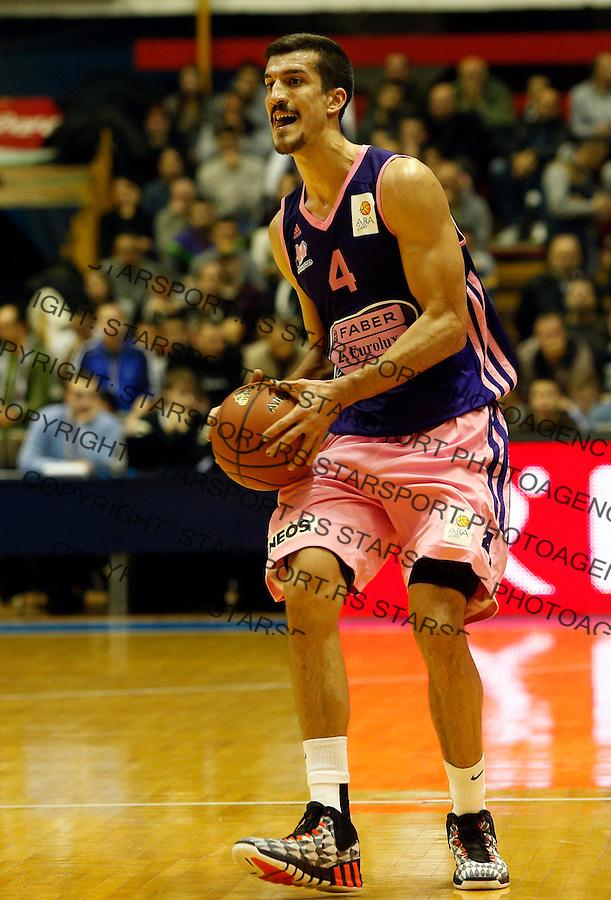 Marko Keselj ABA liga, Partizan - Mega Leks, Beograd, Srbija, 7.12.2014 (credit image & photo: Pedja Milosavljevic / STARSPORT). © 2014 Pedja Milosavljevic / +318 64 1260 959 / thepedja@gmail.com