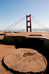 Marin Headlands; sightseeing; as seen from Battery Spencer, Golden Gate Bridge, San Francisco, California, USA.  Photo copyright Lee Foster.  Photo # california107822