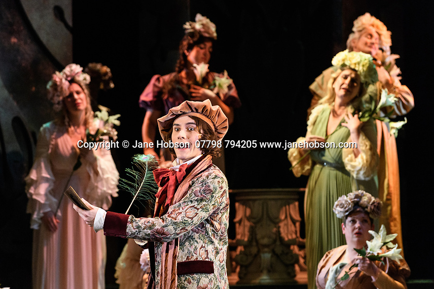 London, UK. 07.03.2017. English Touring Opera presents PATIENCE, by Gilbert & Sullivan, at the Hackney Empire, prior to its UK tour. Picture shows: Bradley Travis (Bunthorne). Photograph © Jane Hobson.