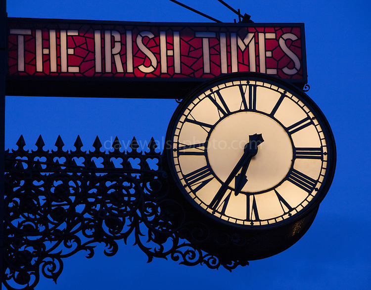 The irish times clock townsend street dublin dave walsh photography - Irish times office dublin ...