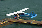 Alaska, Juneau: The float plane dock. .Photo #: alaska10298 .Photo copyright Lee Foster, 510/549-2202, lee@fostertravel.com, www.fostertravel.com..